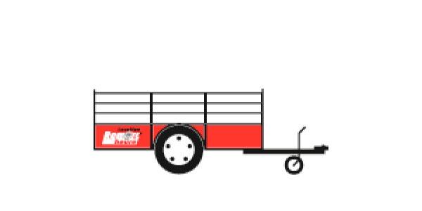 Remorque transport de matériaux